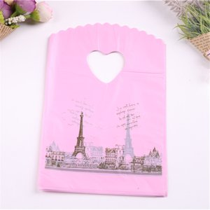 Wholesale 50pcs lot 13*20cm Favor Party Birthday Packing Pink Eiffel Tower Gift Bags For Christmas Packaging