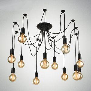 Vintage Nordic Spider Pendelleuchte Mehrere Einstellbare Retro Pendelleuchten Loft Klassische Dekorative Leuchte Beleuchtung Led Home