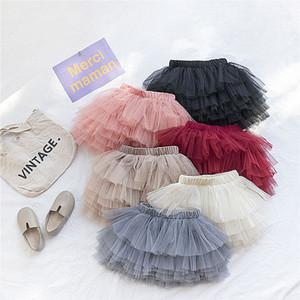 Moda Bebés Meninas vestido de gaze bonito Moda Primavera-Verão Tutu Mini Saia Crianças Crianças Princess Dress Dança Adorável Partido Saias 6 cores
