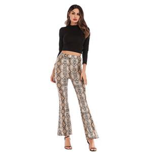 2020 Designer Womens Pants Spring Slim Leopard Flared Pants Women High Waist Wide Leg Trousers 4 Colors Size S-2XL PH-YF202261