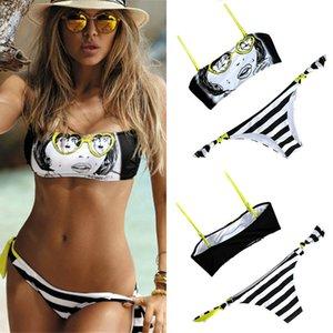 Sexy Bikini Set Swimsuit Swimwear Women Bikini 2020 Mujer New Summer Bandeau Beach Party Bathing Suit Swim Wear Bandage Bathing