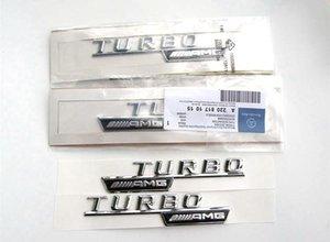 Haute qualité ABS stick carrosserie 3D autocollant décoration charge turbo AMG Mercedes Benz TURBO 2pcs / set