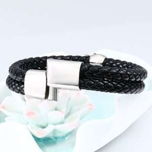 steel soldier stainless steel punk skull leather rope bracelet Multiple handchain bangle exquisite jewelry party favors