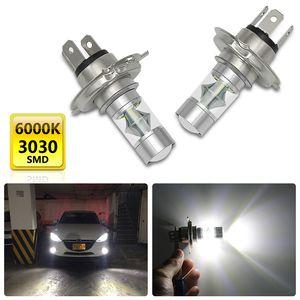 2PCS H4 Car Light Auto Lamp Bulb Fog Lights 60W 12V 6500K Motercycle Car Headlights Lamp 20 SMD