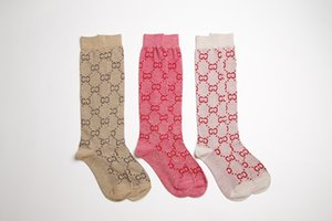 Gold thread High Quality women Sport Socks Street Contracted Cotton Geometric patterns Scks Skateboard Fashion Girl Long Socks In All Season