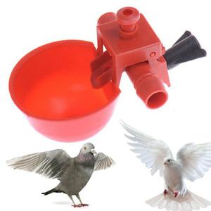 2styles pollo Beber Copas de codorniz Waterer Bird cuencos de cristal rojo Cría de animales Herramientas Coop Alimentador automático de aves vasos para beber