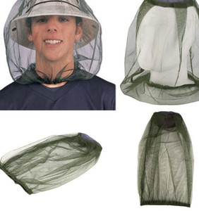 Mosquito cabeça líquido não incluindo chapéu de resistência do mosquito inseto Bee Net Mesh Head face Protector Mosquito Insect boné KKA7866