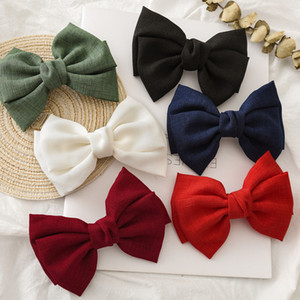 Elegant Solid Color Bow hair Clips Girls' Hair Barrettes Women Hair Accessories for girls