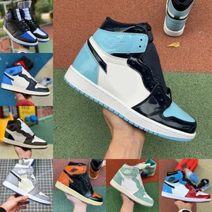 2020 Nike Air Jordan 1 retro jordans Low ASG UNC Crimson Tint Fearless Retroes Banned 1s Chicago Toe Scarpe Donna Bianco Grigio Sport