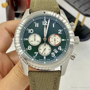 Знаменитый Кертис Орел специальный дизайн зеленый циферблат кварцевые секундомеры мужские часы мужские наручные часы с логотипом и военным ремешком