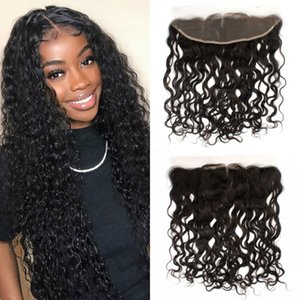 Lace Frontal Closure Water Wave Indian Human Hair 13x4 Frontal Swiss Lace Remy Hair 8-20 inches