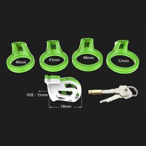 Stealth Lock Male Device Device Device Cock Chastity Lock Chastity Bondage Cage, Virginity Belt Anillo, Anillo de la polla 4 Tamaño Juego Adulto con productos Skith
