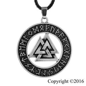 1pcs Vikings gros- Nordiques Pendentif Collier Norse Valknut rune collier pendentif original Amulette collier pendentif