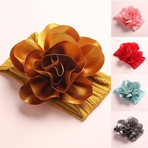 Fita Hair Fashion crianças Headband Chiffon Flower Nylon Headband Crianças Acessórios de cabelo do bebê Headwrap Headwear