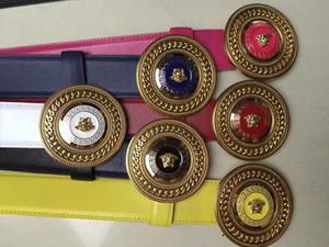 2019 TOP11 Big large buckle genuine leather belt with box designer belts men women high quality new mens belts luxury belt free shipping