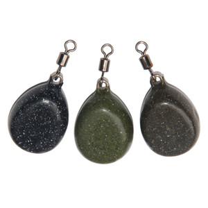Приспособления для ловли карпа Ловильщики с покрытием Плоские шарнирные грузики Черный, коричневый, зеленый Принадлежности для ловли свинца