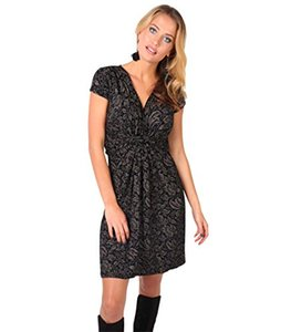 KRISP Womens Fashion Flügelärmel V-Ausschnitt Blumenmuster Sommerkleid US 4-14