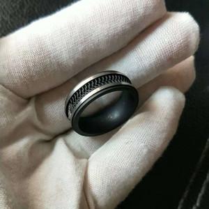 Anello in silicone nero a forma di stella anello di lusso per gli uomini anelli in acciaio inox anello di gomma USA taglia 7 # a 12 #