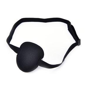 Korsan Göz Bandı Cadılar Bayramı Partisi Siyah Korsan Kostüm Aksesuar Konkav Göz Patch 3D Köpük Groove siperliği Pet Malzemeleri