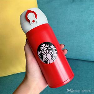 Yeni Starbucks THERMOS Kırmızı romantik Paslanmaz Çelik Vakum fincan Denizkızı logosu Tumbler dooor spor kahve fincanı 350ml dışarı