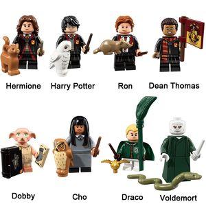 Harry Potter Hermione Granger Ron Weasley Lord Voldemort Dean Thomas Dobby Draco Malfoy Cho Chang Mini figura di azione Particelle elementari del giocattolo