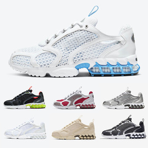 Cushion Stock X Stussy X Spiridon Caged Mens running shoes Lemon Venom Cardinal Red Metallic Silver Pure Platinum men women sports designer sneakers