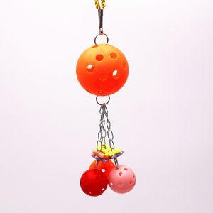 Parrot Gnaw Bird Toys Plastic The Gnawing String Ball Color Colocación aleatoria