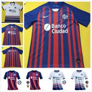 Üst haber 2020 2021 San Lorenzo ev CAUTERUCCİO Futbol forması 20 21 San Lorenzo Deplasman BARRİENTOS BLANCO futbol gömlek
