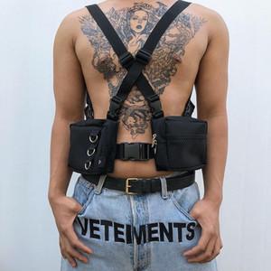 Kamuflaj Liman Rüzgar Beceri Taktik Bullet Çanta Erkek erkek ve kadın kadın Çiftler Göğüs sırt çantası Sokak Çoklu Cep moda İşleme Çanta