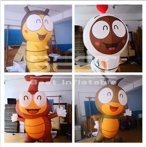 Prix usine modèle ver gonflable personnalisé pour la promotion New Humour Cartoon gonflable Larve Corée du ver hilarant
