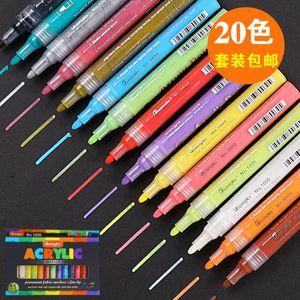 36 개 색상 / 설정 3mm 아크릴 세라믹 락 유리 도자기 머그컵 목재 직물 캔버스 회화에 대한 마커 펜 페인트