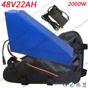 48V 1000W 1500W 2000W Akü 48V 22AH Elektrikli Bisiklet Aküsü 48V 22AH Lityum Batarya ile 54.6V 5A Şarj Cihazı + Çanta Duty Free.