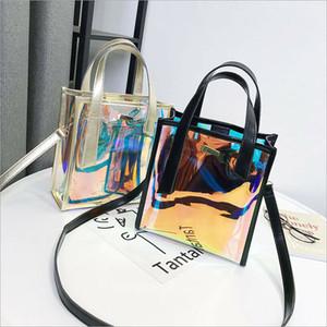 Holographic Laser Messenger bag Jelly colore Sacchetto trasparente dell'ologramma borsa per la borsa di spalla delle donne Composite signore