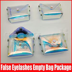 Cils Boîtes d'emballage Coffret cadeau Lashes Paquet Boîtes de rangement maquillage cosmétiques cas Mink Faux Sac Cils