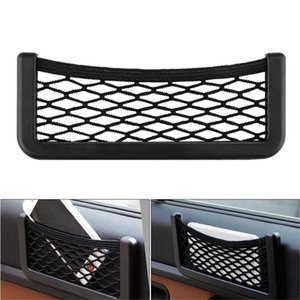 Universal Car Seat Net Storage Bag Phone Holder Pocket Organizer Flexible Mesh Back Rear Auto Accessories Pocket Holder A