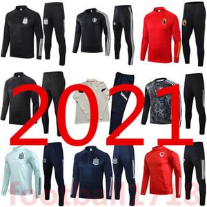 2021 França Espanha de futebol Treino de manga comprida chandal futbol 20 21 Argentina Bélgica Treinamento de futebol terno KANE WERNER treino