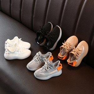 Sapatos crianças Designer Sneakers Hiphop Marca Kanye West para meninos das meninas adolescentes ativos respirável tênis de corrida Eur 22-31 2.020 Nova Atacado