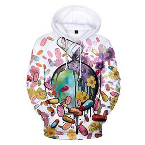999 Juice Wrld Mens Designer Hoodies 3D neue heiße Art Mens Sweatshirts Art und Weise Schädel Lustige Kopf-Portrait Kleidung