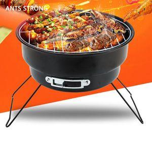 ANTS FORTE carbone portatile pieghevole barbecue grill / campeggio esterno famiglia di cottura barbecue tipo piccolo rotondo arrosto stufa braciere