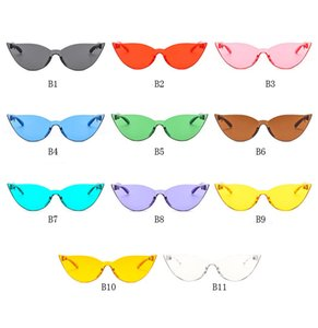 3 style Summer Women Rimless Sunglasses Transparent Shades Sun Glasses Female Cool Candy Color UV400 Eyewear Oculos De Sol HZYJ288