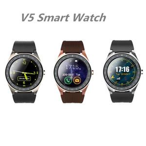 Box ile Android Cep telefonları için V5 Akıllı İzle Bluetooth 3.0 Kablosuz Smartwatches SIM Akıllı Cep Telefonu İzle reloj inteligente