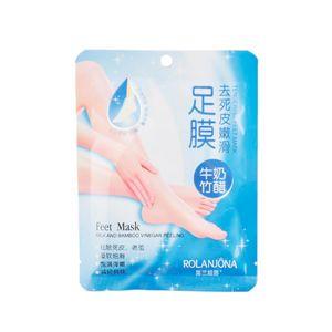ROLANJONA feet mask Milk and Bamboo Vinegar Feet Mask skin Peeling Exfoliating regimen for Feet care by DHL