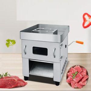 ГОРЯЧИЙ Electric Руководство Мясо Slicer Коммерческая Cutter Автоматическая Meat резки мясоперерабатывающий машина