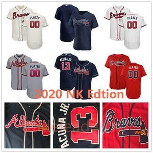 2020 Atlanta Ronald Acuna Jr. Freddie Freeman Travis d'Arnaud Chipper Jones Ozzie Albies Dansby Swanson Fried Marcell Ozuna Baseball Maillots