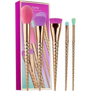 макияж кисти наборы косметики кисти 5 яркий цвет розовое золото спираль хвостовик макияж кисти единорог винт макияж инструменты Бесплатная доставка