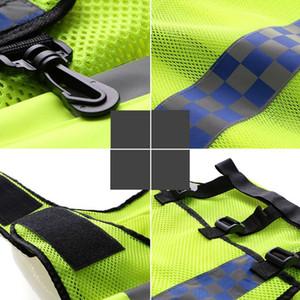 Bisiklet Koşu Aksesuarları 56p için cepler Yüksek Görünürlük Nefes Ayarlanabilir Emniyet Gear ile Reflektif Yelek