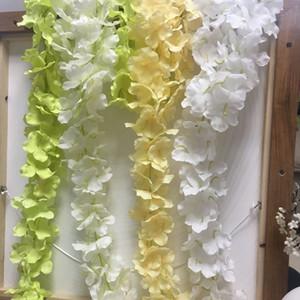 Yapay Çiçek Asma İpek Ortanca Ev Moda Parti Romantik Düğün Dekoratif Çelenk Çiçekler Wisteria Deco