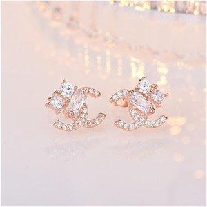 2020 luxury designer Korea Dongdaemun temperament earrings net red with the same paragraph S925 sterling silver needle earrings earrings