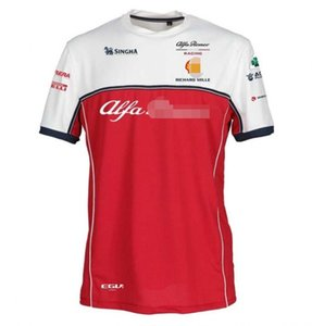 F1 Formula One short-sleeved T-shirt 2019 Alfa Romeo Kimi Raikkonen racing suit round neck Tee polyester quick-drying material can be custom