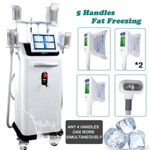 máquina cryolipolysis congelamento gordura remoção de gordura máquina cryolipolysis 5 handlepieces corpo de contorno máquina 360 °